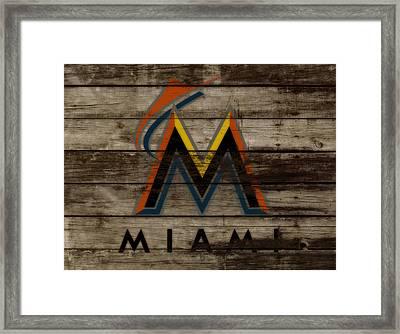 The Miami Marlins 1b Framed Print