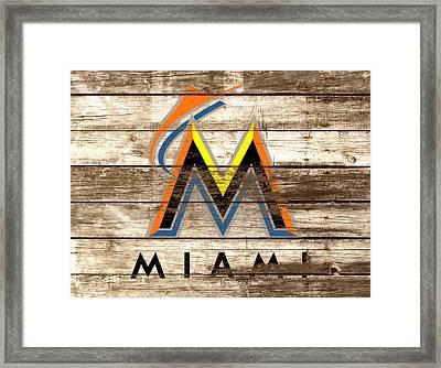 The Miami Marlins Framed Print