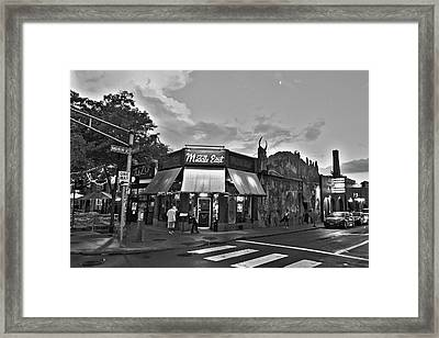 The Middle East In Central Square Cambridge Ma Black And White Framed Print
