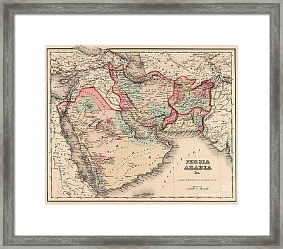 The Middle East In The Mid 19th Century Framed Print by English School