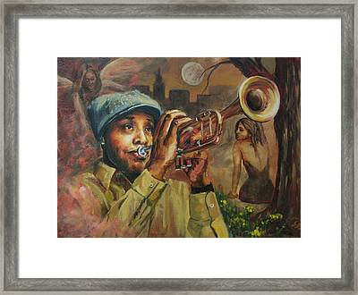 The Midnight Muse 2.1 Framed Print by Gary Williams