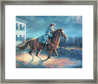 The Midnight Ride Of Paul Revere Framed Print