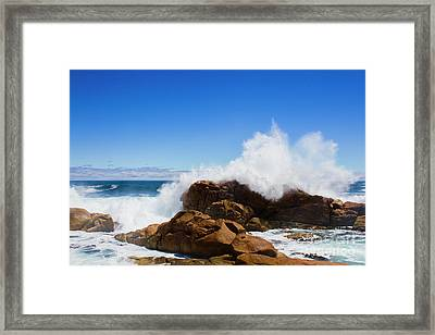 Framed Print featuring the photograph The Might Of The Ocean by Jorgo Photography - Wall Art Gallery