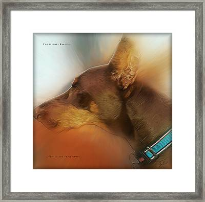 The Mighty Baron Framed Print