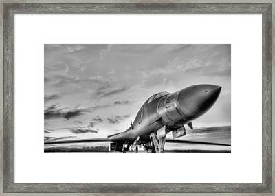 The Mighty Black And White Framed Print by JC Findley