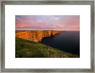 The Mighty Cliffs Of Moher In Ireland Framed Print by Pierre Leclerc Photography