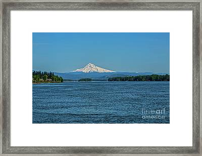 The Mighty Columbia Framed Print by Jon Burch Photography