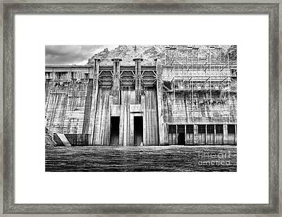 The Mighty Dam Architecture Art By Kaylyn Franks Framed Print