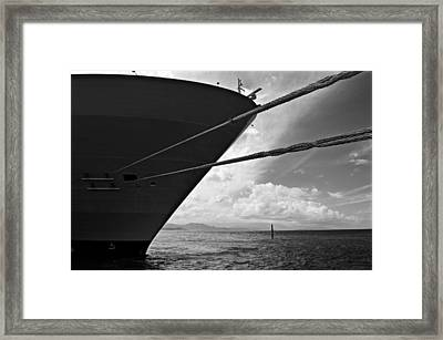 The Mighty Hull - Allure Of The Seas Framed Print
