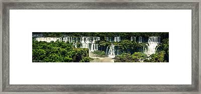The Mighty Iguazu  Framed Print by Andrew Matwijec
