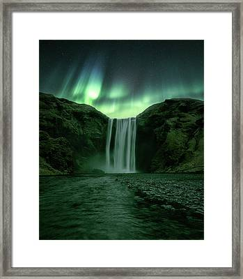 The Mighty Skogafoss Framed Print