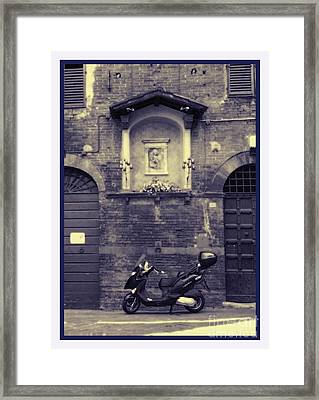 The Mighty Vespa Framed Print