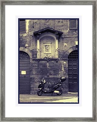 The Mighty Vespa Framed Print by Karen Lewis