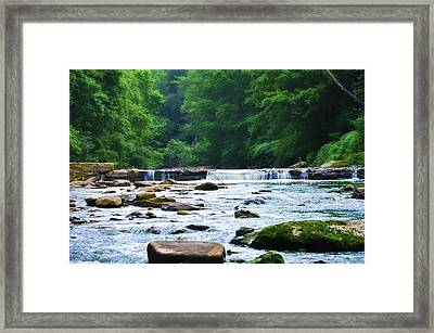 The Mighty Wissahickon Framed Print by Bill Cannon