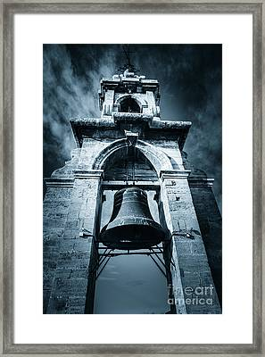 The Miguelete Bell Tower Valencia Spain Framed Print