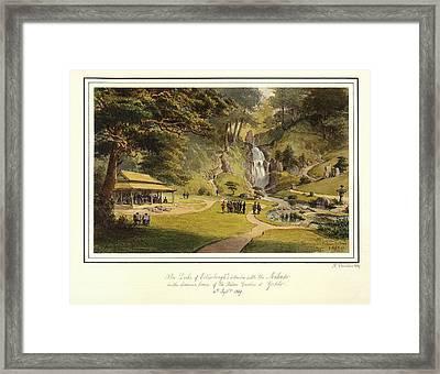 The Mikado Palace Gardens, Yedo, 1869, By Nicholas Chevalier. Framed Print