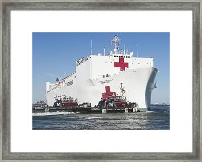 The Military Sealift Command Hospital Ship Usns Comfort Framed Print by Celestial Images