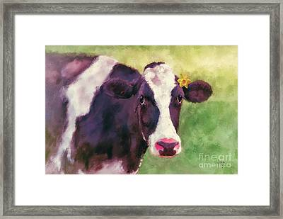 The Milk Maid Framed Print by Lois Bryan