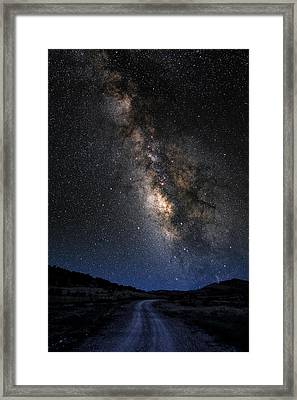 The Milky Road Version Two Framed Print