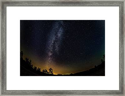 The Milky Way - A Fisheye Lens View Framed Print
