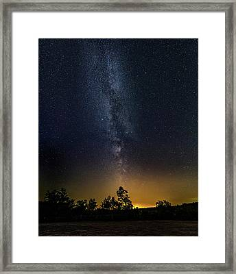 The Milky Way - A Summer Thought Framed Print