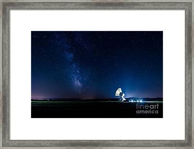 The Milky Way Above Bavaria Framed Print