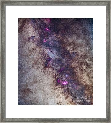 The Milky Way Around The Small Framed Print
