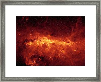 The Milky Way Center Aglow With Dust Framed Print