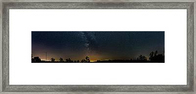 The Milky Way - Center Stage - 180 Panorama Framed Print
