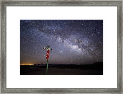 The Milky Way Is Undimmed By Outdoor Framed Print by Jim Richardson