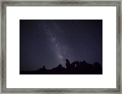 The Milky Way Over Turret Arch Framed Print