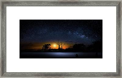 The Milky Way Tree Framed Print by Mark Andrew Thomas