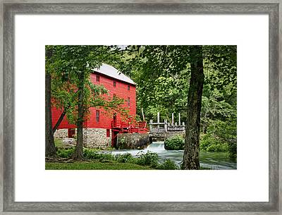 The Mill At Alley Spring Framed Print by Cricket Hackmann