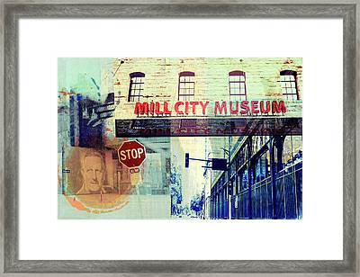 The Mill District In Minneapolis Framed Print