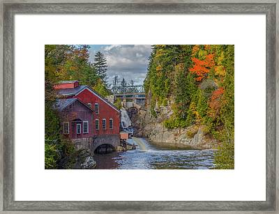 The Mill In Fall Framed Print by Roger Lewis