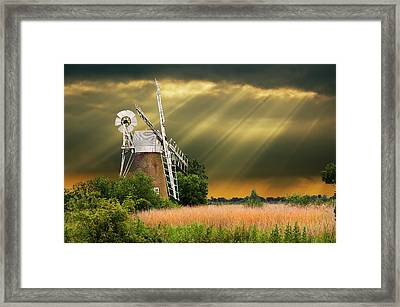 The Mill On The Marsh Framed Print by Meirion Matthias