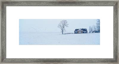 The Miller House, National Elk Refuge Framed Print by Panoramic Images