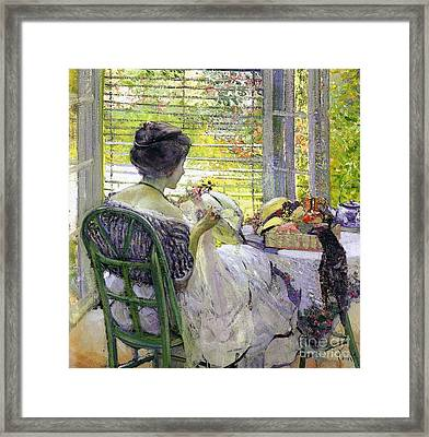 The Milliner Framed Print by Richard Edward Miller