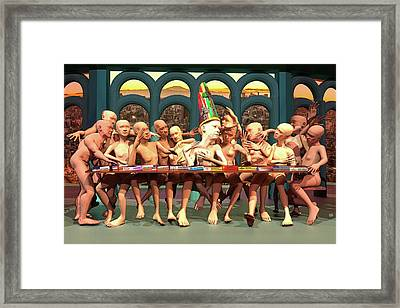 The Mad Supper Party Framed Print