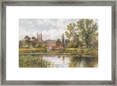 The Millpond Framed Print by Alfred Glendening