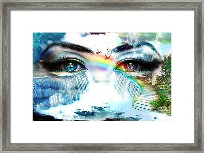 The Mind's Eyes Framed Print