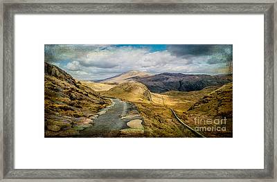 The Miners Track  Framed Print