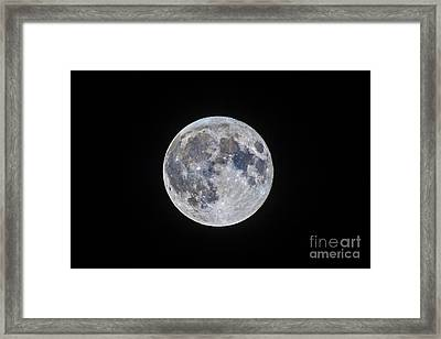 The Mini-moon Of March 5, 2015 Framed Print