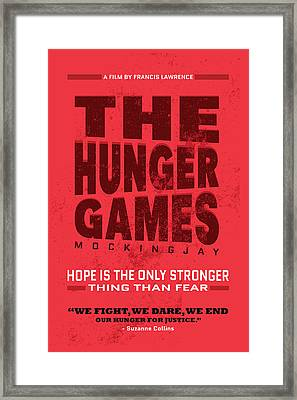 The Minimalist Movie Poster - The Hunger Games - Mockingjay Movie Framed Print by Celestial Images