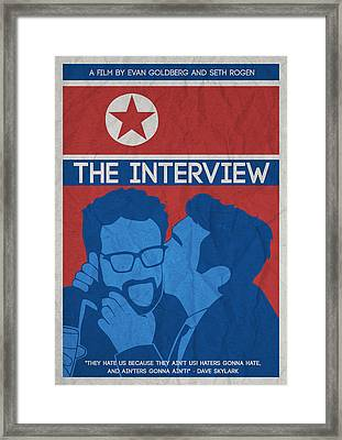 The Minimalist Movie Poster- The Interview Framed Print by Celestial Images