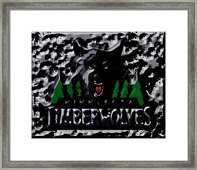 The Minnesota Timberwolves 1a Framed Print by Brian Reaves