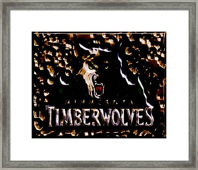 The Minnesota Timberwolves 1b Framed Print by Brian Reaves