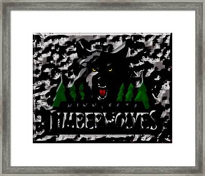The Minnesota Timberwolves Framed Print by Brian Reaves