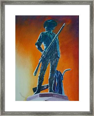 The Minuteman Framed Print by Dwight Williams