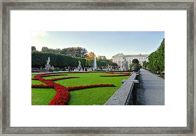 Framed Print featuring the photograph The Mirabell Palace In Salzburg by Silvia Bruno